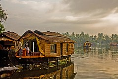 Kettuvallom - The House Boat (Tilak Haria) Tags: morning lake clouds houseboat kerala serenity allepey pratibimbsangli alapuza punnamadalake kettuvollom