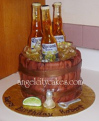Angel City 2nd Beer Bottle Cake (Angel City Cakes) Tags: weddingcake babyshower fondant gumpaste elmocake monkeycake princesscake floralcake flowercake beercake showercake customcakes poohcake sculptedcake sugarbottle 3dcakes beerbottlecake baseballcapcake angelcitycakes sugarbeerbottlecake