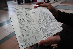Dan Meth's drawing on his UK Tour (Irish Wonderboy) Tags: newyork illustration leeds cartoons nti oldbroadcastinghouse danmeth