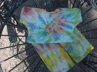 14-16 inch Tie dye Doll PJ's
