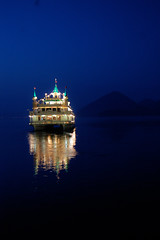 Night Cruise (Martyn Steiner) Tags: cruise blue mountain lake reflection japan ferry night dark lights evening boat twilight hokkaido nightshot fairy    twop   toyako saariysqualitypictures reflectsobsessions