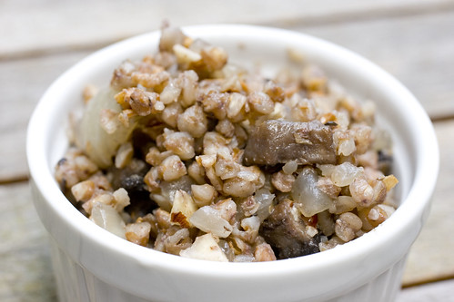 Kasha with Mushrooms and Walnuts