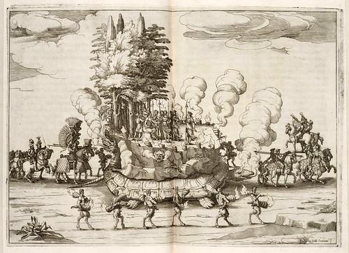 028 Amor prisionero en Delos 1628-ceremonial que representa el mundo en una tortuga