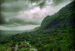 A Beautiful Escape...[Explored #72] (D a r s h i) Tags: trees sky india mountains tree green nature clouds landscapes fort hill monsoon killa pune hdr raigad