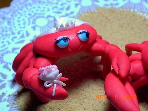 Fondant Crab Bride