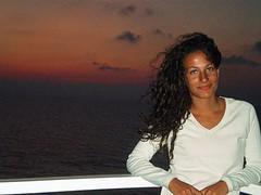 Ripensandoci (Martii.) Tags: sardegna sunset sea summer holidays tramonto mare estate nave ricci 2009 marti vento capelli