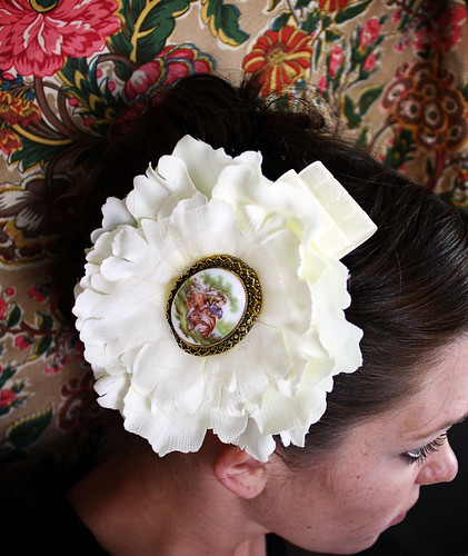 Vintage Pin Hair Flower