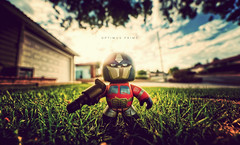Optimus Prime (isayx3) Tags: light sun toy prime nikon glare dof angle natural wide sigma depthoffield transformers optimus 365 f28 d3 bokek 14mm plainjoe mightymugs isayx3
