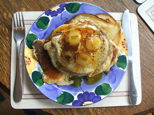 Sunday brunch banana pancakes