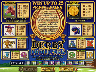 free Derby Dollars slot mini symbol