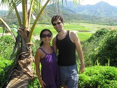 Bobby & Kym at Hanalei overlook (lesleeann74) Tags: kauai napalicoast queensbath tunnelsbeach