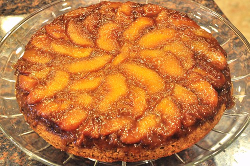 Peach Skillet Upside Down Cake