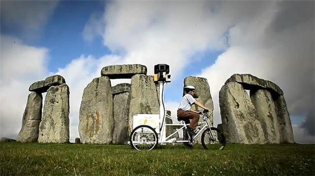 구글 스트리트 뷰 파트너 프로그램의 촬영용 세발 자전거