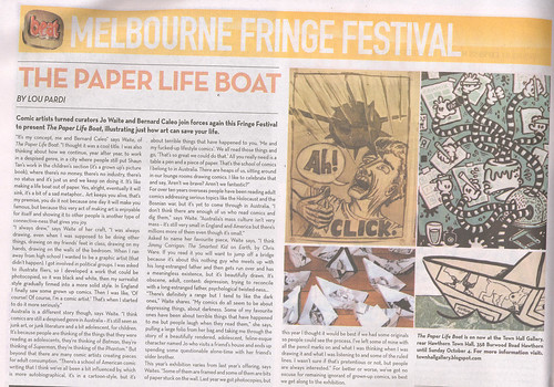 Melb Fringe festival Beat article 30-9-09