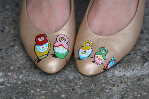 Hand-painted Nesting Doll shoes