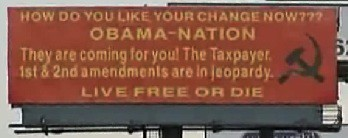 Obama Nation Billboard on I-70 near Kansas City, Missouri