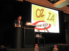 Eric Scheid (organiser of the OzIA 2009 conference) opens the conference.