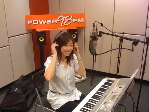 Bev @ Power98 Studio