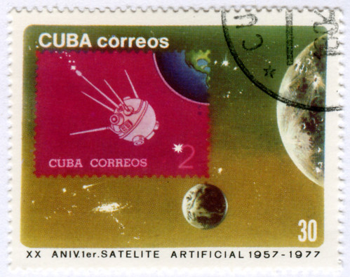 Cuba 2137 - Stamp on Stamp Series for Sputnik Anniversary