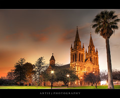 St Peter's Cathedral, Adelaide :: HDR (Artie | Photography :: I'm a lazy boy :)) Tags: sunset sky cloud building classic church misty architecture photoshop canon vintage sandstone cathedral cs2 tripod north kitlens australia structure adelaide 1855mm southaustralia efs hdr stpeter artie 3xp photomatix tonemapping tonemap stpetercathedral 400d rebelxti