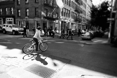Biking in SoHo
