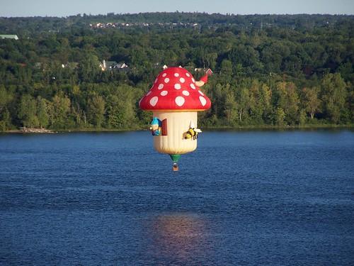 Mushroom flying low over the Ottawa River