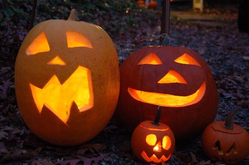Halloween 2009:  Jack o' lanterns.