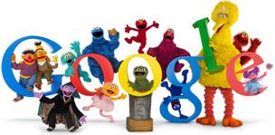 Sesame Street Google Logo