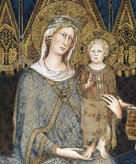 SIMONE MARTINI Maestà (detail)1315