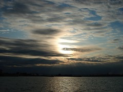 Sunset in the 'Soo (ottawasouth80) Tags: sunset sun water saultstemarie