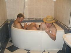 Dubious sex pest enjoys bath with drunken rent boy.... (ilovealcopop) Tags: bath drunken foreign nudity rentboy sexpest