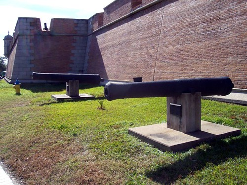 Cannons outside Fort Conde