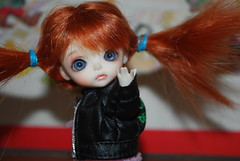 Luxe: SLAP you. (Jenny♔Couture) Tags: new leather by hair cowboy do boots jacket cuteness luxe tutu cherny lati minglee