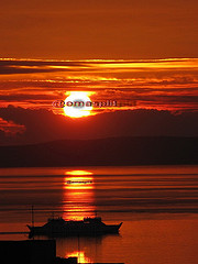 "#104""/09 (emasplit) Tags: sunset orange sun boat croatia emasplit explore2009"
