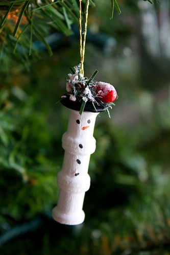 Thread Spool Snowman