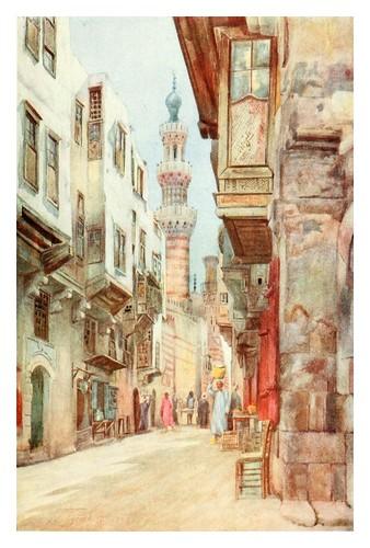 016- Entrada a la mezquita de Ibrahim Agha en el Cairo-Cairo, Jerusalem, and Damascus..1907- Margoliouth D. S.