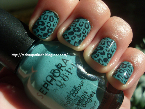 how to do animal print nails. do zebra and leopard print