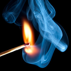 Chemical Jellyfish (Mark Solly (F-StopNinja)) Tags: macro head smoke flame burn match stick strobe ignite nikond90 tamron18270mm
