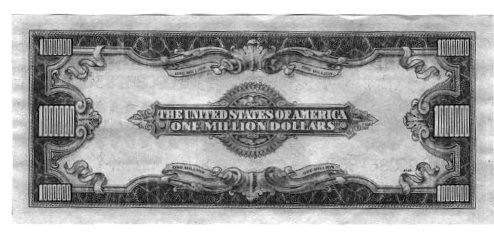 Million Dollar Silver Certificate