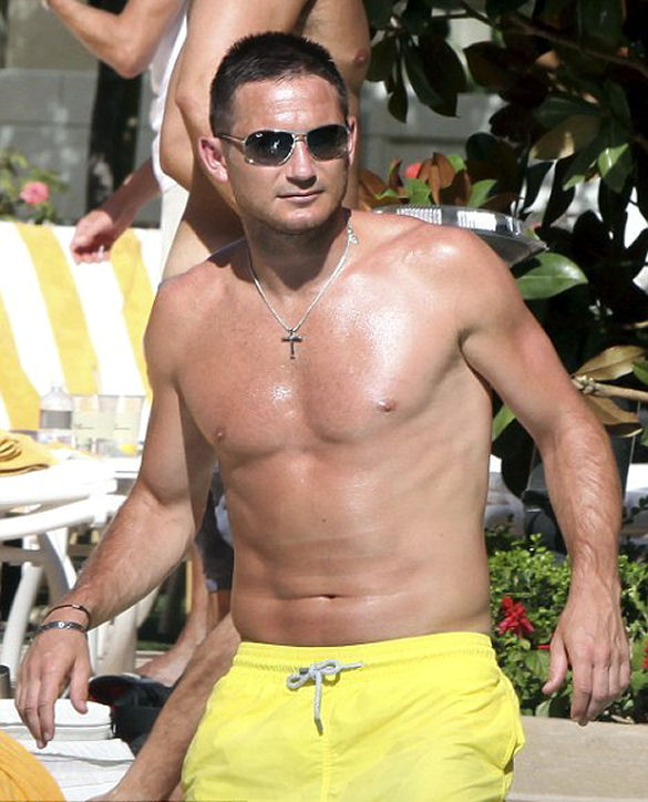 Frank Lampard shirtless