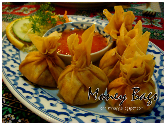 Thai Cottage Restaurant: Money Bags