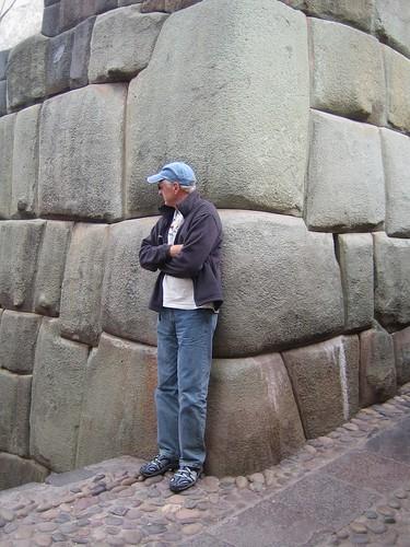 Roger on an Incan street
