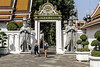 The Dress Code and Culture Enforcers (Anoop Negi) Tags: thailand bangkok royal palace temple women girls bare legged shoulders enforcers gate keepers men guards anoop negi photo photography ezee123 code culture wat pho