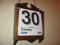 The calendar on the wall in the CA State Senate... right before the big ending
