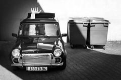 Catch me... (janbat) Tags: bw paris car austin hand main mini voiture nb panasonic montreuil poubelle pltre garbabe lx3 jbaudebert