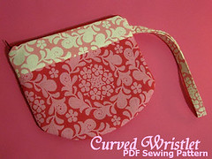 Curved Wristlet (djstoreroom) Tags: color art vintage bag women handmade sewing patterns crafts craft sew cotton purse pouch strap zipper accessories pdf etsy supplies ebook zip crafting findings wristlet handmadebag artfire djstoreroom