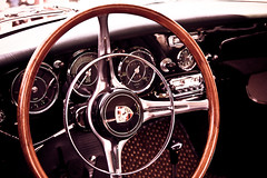 Porsche Carrera (MR@tter) Tags: car porsche oldtimer autos steeringwheel lr carrera lenkrad tamron1750 baureihe356 model356