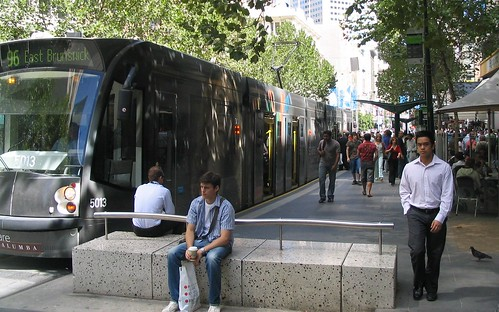 Tram in Bourke St