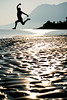119.365 - Day Maker (Universal Stopping Point) Tags: ocean light mountains beach wet silhouette alaska self bay jump shine sheen airborn girdwood mudflat jumpingproject exposureandcontrastslightcrop nearbelugapoint