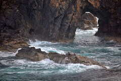 Natural Arch from Strathy Point (Mike Hume) Tags: sea cliffs hdr naturalarch strathy strathypoint